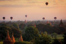 Bagan am Morgen