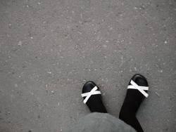 mustache street shoes walking