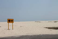 Weg vom Strand