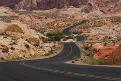 On the road again | im Valley of Fire