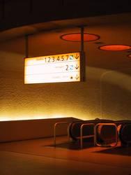 departure lounge escalator
