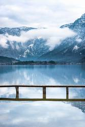 Alps mountains reflected in water