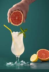Lemonade cold drink with grapefruit aroma