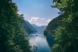 Konigsee lake in the German Alps in summer
