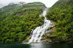 Waterfall Friaren in the Geirangerfjord, Norway
