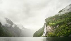 Sieben Schwestern Wasserfall, Geirangerfjord, Norwegen
