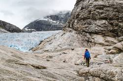 Wanderung zum Nigardsbreen Gletscher, Norwegen