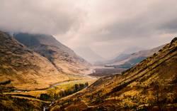 Blick auf Glen Etive, Schottland