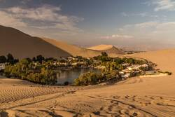 Take a time out in the oase Huacachina in Peru