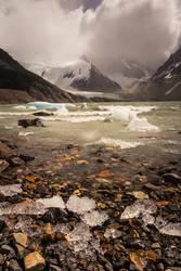 Gletschersee im tiefsten Patagonien, Argentinien