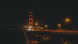 Golden Gate Nacht Lichtspuren