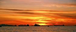 Sunset & Ships