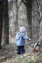 Junge im Wald