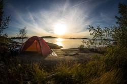 Scenic tent spot