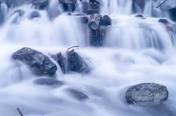 Blurred motion of water