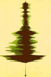 Weihnachtsbaum in Wellenform