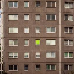 Fassade eines Wohnblocks in Chemnitz