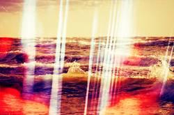 Doppelbelichtung aus Glas und Meer