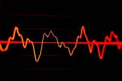 Wellenform in Software zur Audiobearbeitung für Podcast