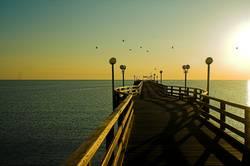 Sonnenaufgang Seebrücke Binz