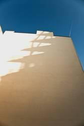 Fassade mit Schatten