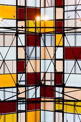 Glasdach von unten