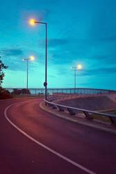 Drei Straßenlaternen