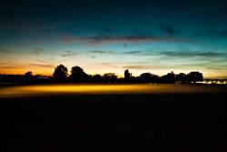 Tempelhofer Freiheit, abends