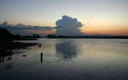 Abendstimmung am See, Sri Lanka