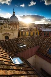 Neapel bei Sonnenuntergang