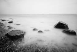 wet rocks