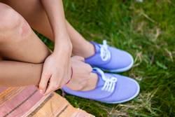 schöne Schuhe mit Bein