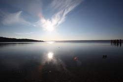 Sonne über dem Ammersee