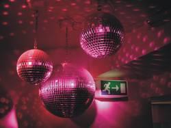 Pink disco balls