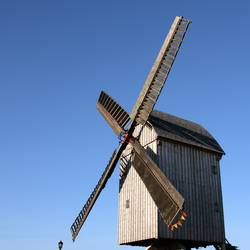 Mühle blau