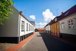 Empty street in a small danish village