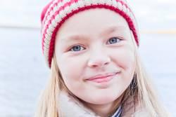 Cute girl in red hat