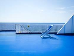 Blaue Stunde an Bord