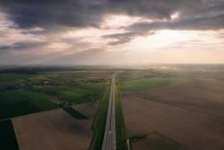Multi lane highway.