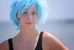 Hipster girl with blue hair |||
