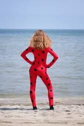 Cosplay-Girl with Ladybug Jumpsuit