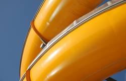 Water slide detail in yellow blue