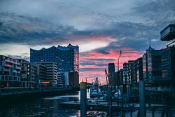 Sonnenuntergang in der Hafencity