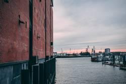 Blick in den Hamburgerhafen