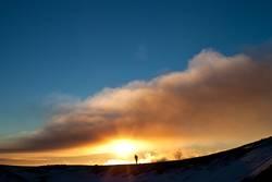 Etna smoke sunset