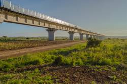View of the viaduct of the Nairobi railroad to mombassa
