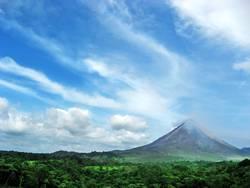 Kaffeewerbung an Vulkan