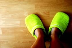 meine grünen Schlappen