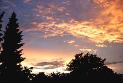 Licht am Himmel