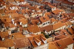 Detail of the orange roofs of Dubrovnik, Croatia